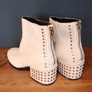 Dolce Vita white leather booties